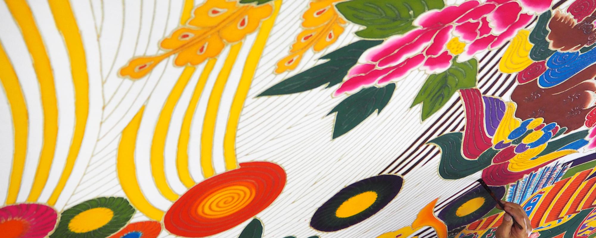讃岐のり染 讃岐の伝統工芸品もち米を糊として使った染物